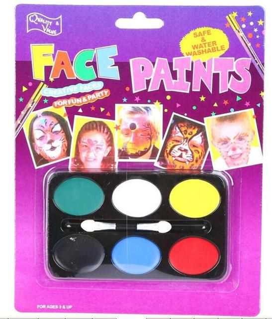 2017 2pcslot halloween fancy kids party clown face painting greasepaint 6 colors kids make