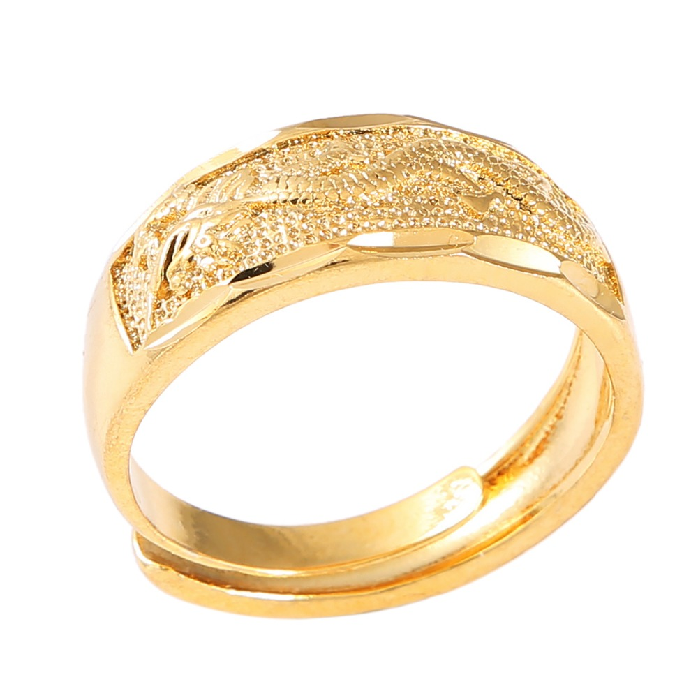 Wholesale Vintage Ethnic Gold Color Chinese Dragon Men Women Ring Jewelry Aliexpress