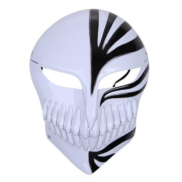 Bleach cosplay Kurosaki Ichigo bankai Full Hollow Mask (black in white) Cosplay Accessory For Halloween Party