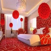 50 cm Dia Zarif Gül Çiçek Topu Yapay Buket Düğün Öpüşme Topu Centerpiece Süslemeleri Beyaz Kırmızı Mor Pembe Sarı
