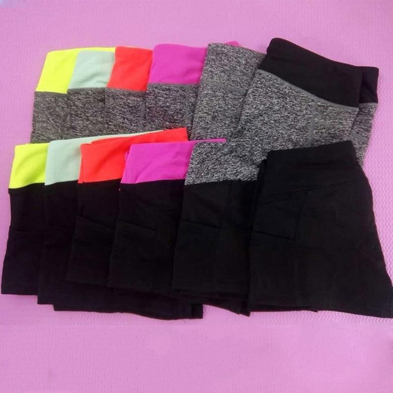Running Shorts Summer Women Sports Gym Spandex Fitness Outdoor Yoga Shorts Workout Sportswear Patchwork
