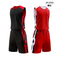2019 Basketball Uniforms Custom Name + Number Men Basketball Jersey Sets Sports clothes Double sided Vest And Shorts