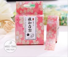 10 Meters Length Sweet Sunny Pink Flowers Washi Tape Adhesive Tape DIY Scrapbooking Sticker Label Masking Tape