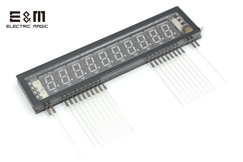 2Pcs Blue VFD Display Screen 10x10 Module 7 Segment 106*25mm Vacuum Fluorescent Panel Japan Futaba All New 10-MT-20GY DIY Kit