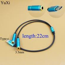 Разъем адаптера для наушников type c аудио aux кабель на 35