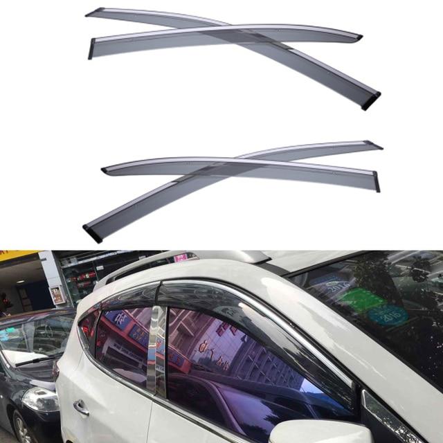 4 шт./лот стайлинга автомобилей вентиляционные тень вс защиту от дождя стекла крышка козырек для KIA Optima 2013 2014 2015 аксессуары