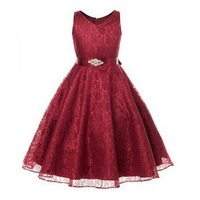 New year Girls dress Christmas dress for girl purple red white wedding Princess dress girl clothes birthday party