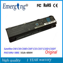 10.8 V 48Wh nowy oryginalny Laptop bateria do toshiby z dostępem do kanałów satelitarnych kanałów satelitarnych C40 C50 C50D C50T C55 C55T C55D C55DT PA5109U-1BRS