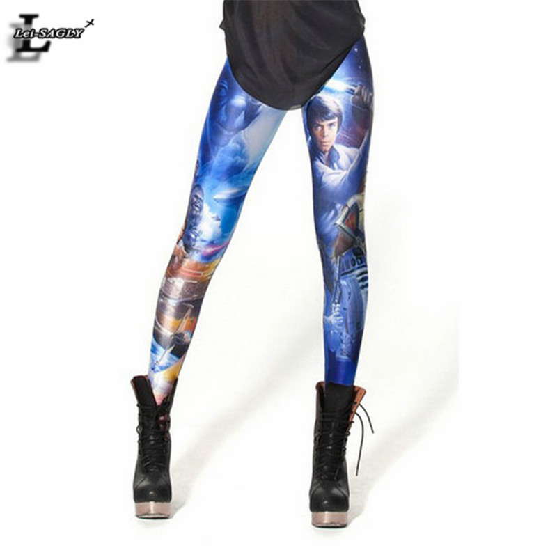 New Design Star Wars Montage Digital Printed Leggings Harajuku Fitness Women Fashion Gothic Creative Popular Punk Pants BL-134