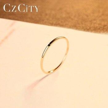 Yellow Gold Petite Black Cubic Zircon Ring 3