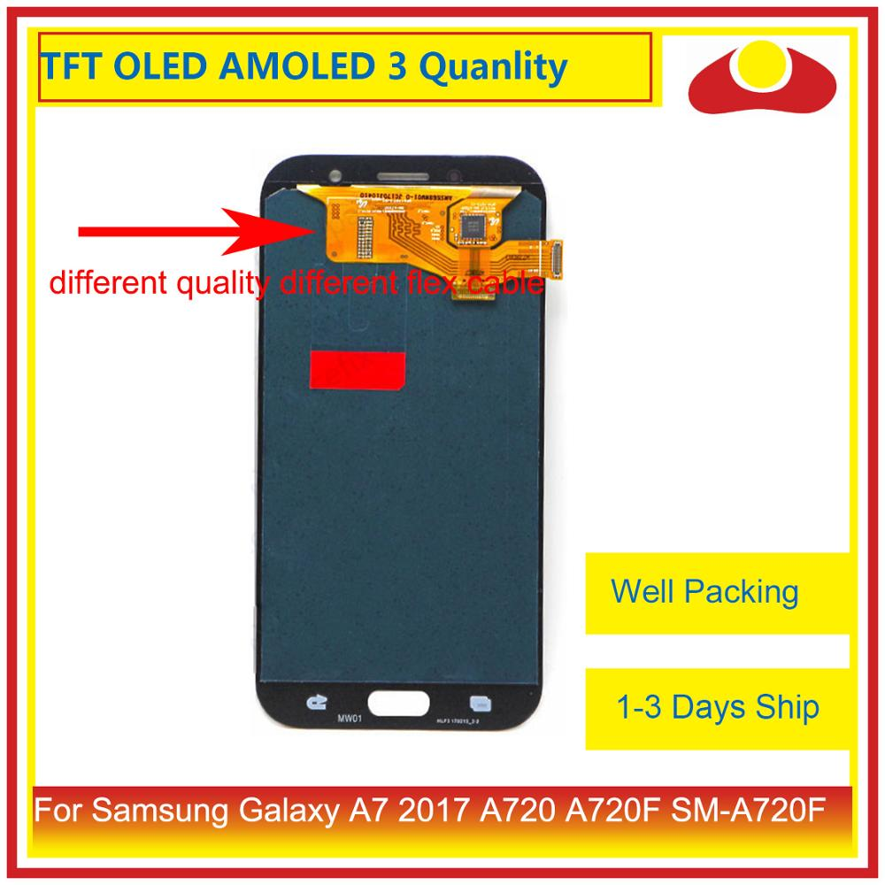 Image 2 - ORIGINAL For Samsung Galaxy A7 2017 A720 A720F SM A720F LCD Display With Touch Screen Digitizer Panel Monitor Assembly Complete-in Mobile Phone LCD Screens from Cellphones & Telecommunications