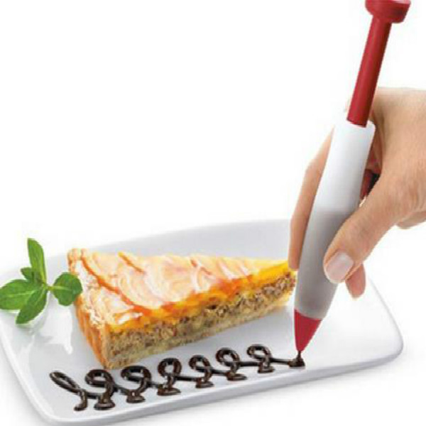 Us 1 33 17 Off Phfu Pastry Cream Chocolate Decorating Syringe Silicone Plate Paint Pen Cake Cookie Cake Decorating Pen In Dessert Decorators From