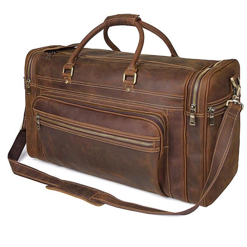 LEXEB Fullkornsläge Business Travel Duffle För Män Övernattning - Väskor för bagage och resor - Foto 4