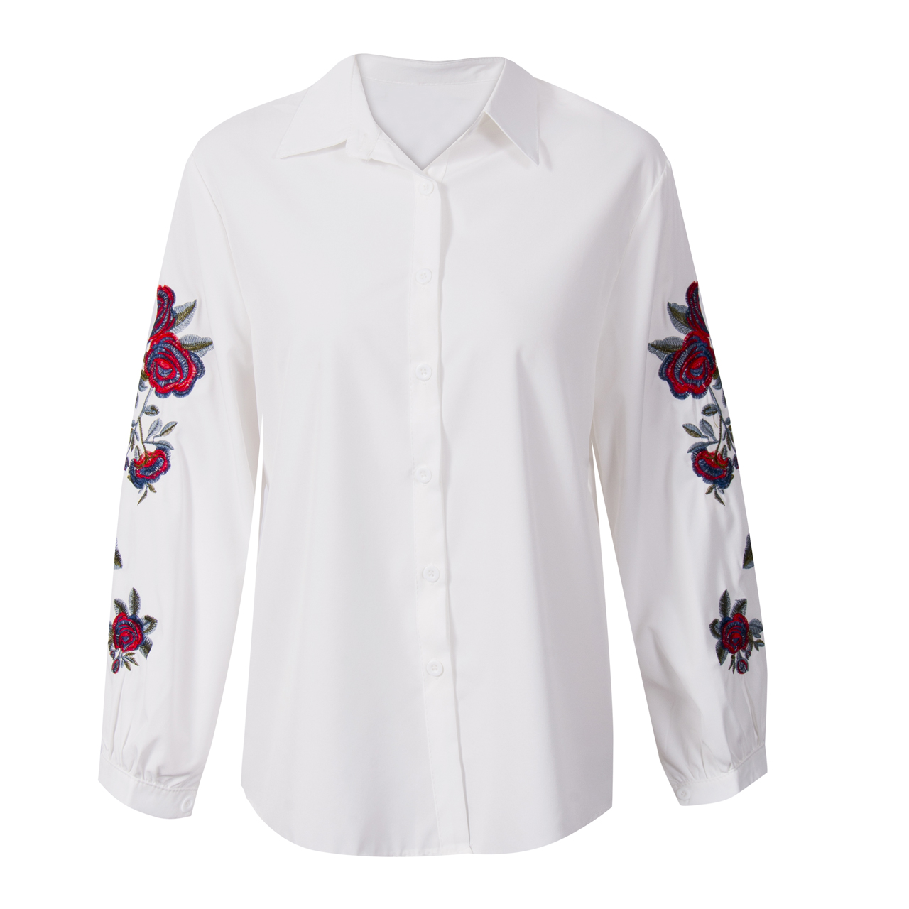 9ffa3f5b99d5a Floral And Striped Shirt Plus Size
