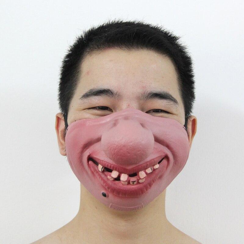 Yeni! 1PC Əyləncəli və Yarım Üz Tələsik Lateks Maskalarından - Şənlik aksesuarları - Fotoqrafiya 2