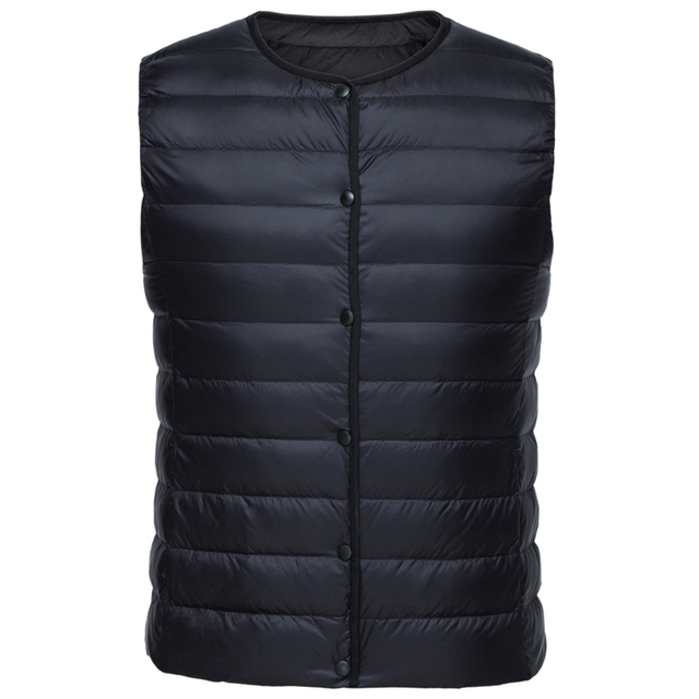 Women Packable Quilted Lightweight Down Vest with Slant Pocket Light Puffer Vest Chinlon Lined with Front Snap Closure