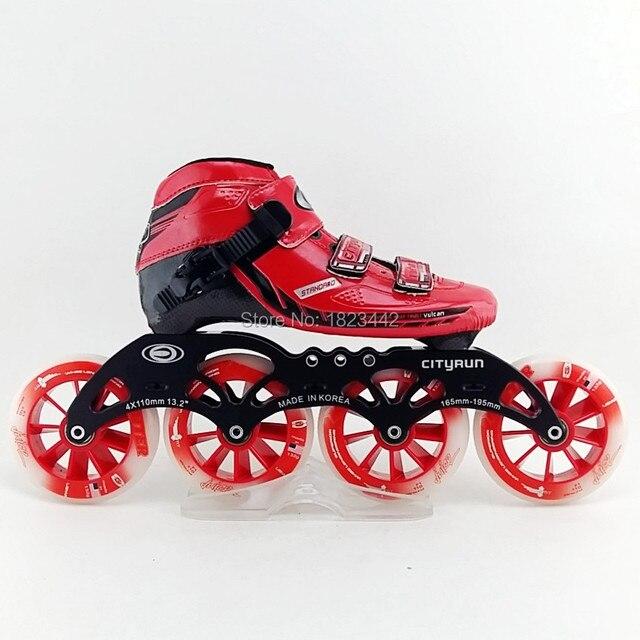 Lo nuevo de fibra de carbono 4 rueda patines patinaje zapatos del patín de  velocidad para dc55596c60d