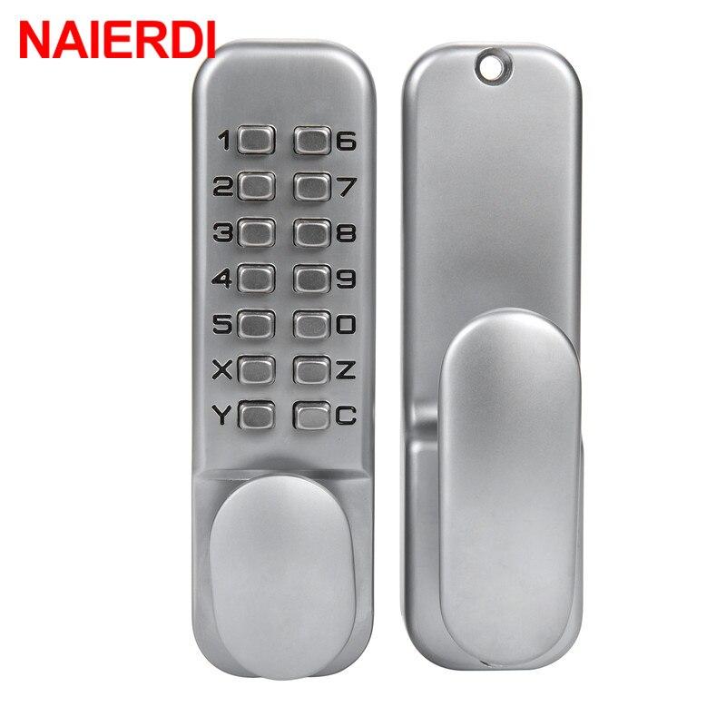 NAIERDI en alliage de Zinc Miniature mécanique Ciper serrure étanche numéro de porte numérique serrure sans clé mot de passe Non-puissance serrures maison