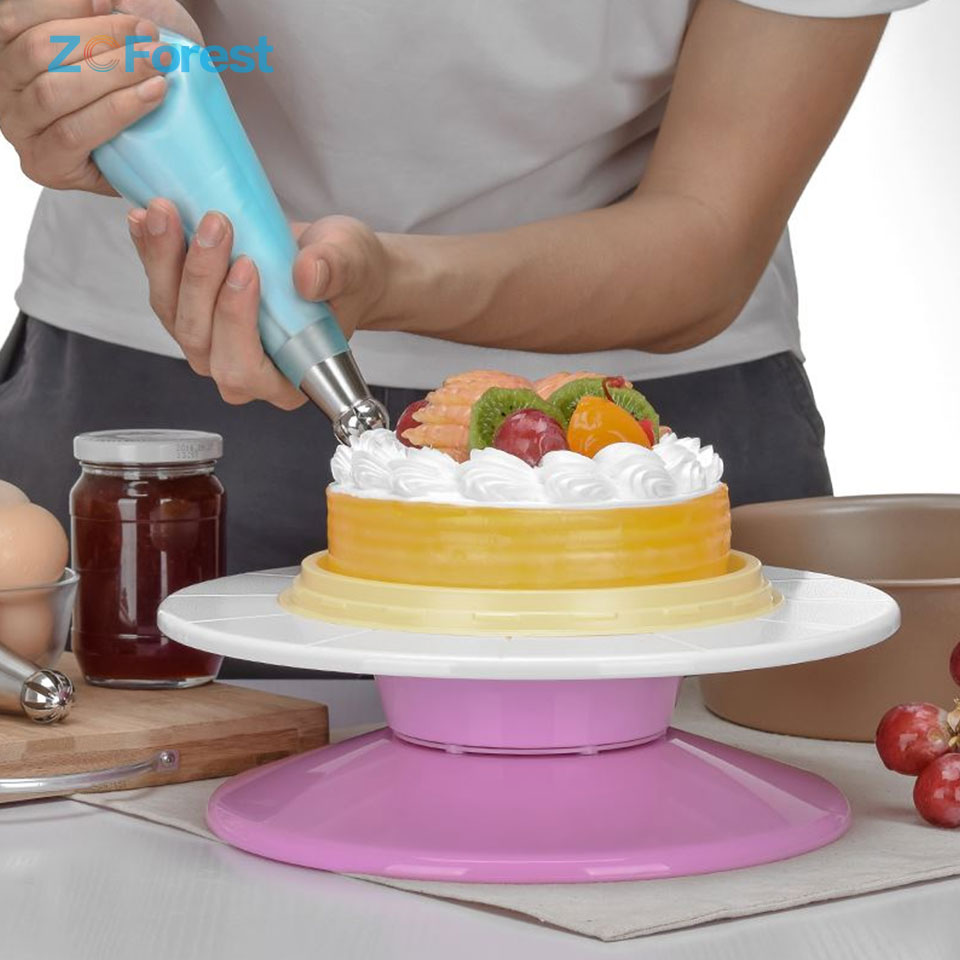 Home & Garden Cake Base Cake Decorating Tools Rotating Cake Stand Sugar Craft Turntable Platform Cupcake Swivel Plate Revolving Baking Tools Comfortable And Easy To Wear