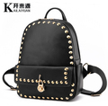 2017 European fashion Rivet daily women backpack casual princess backpacks solid color high quality mochila school bags
