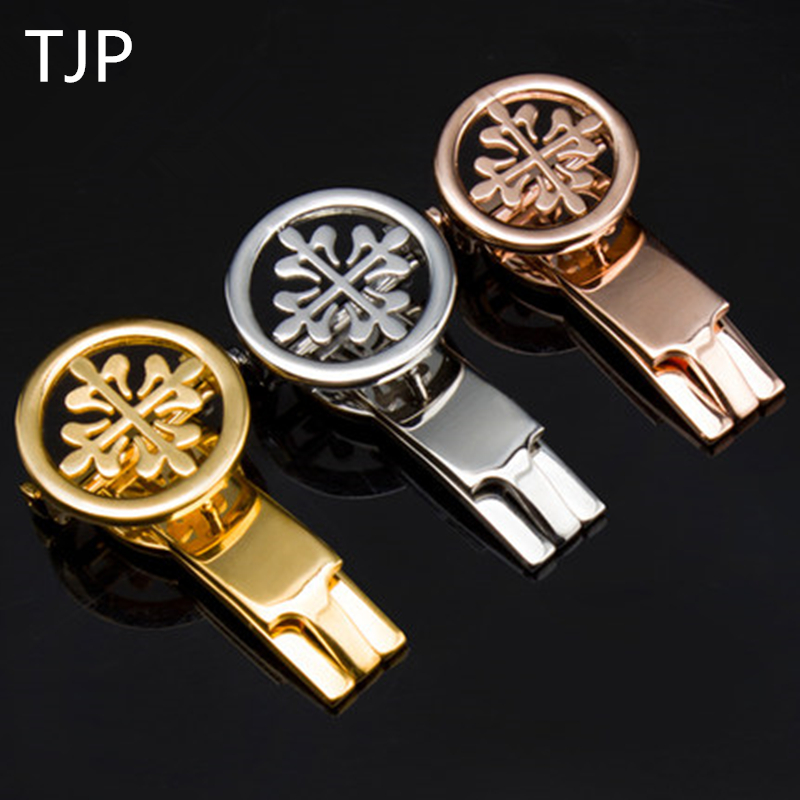 TJP Luxury Brands Stainless Steel Watch Clasp 18mm 20mm Silver Rose Gold Polished Deployment Watchband Buckle For Patek tjp luxury brands stainless steel watch clasp 18mm 20mm silver rose gold polished deployment watchband buckle for patek