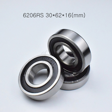6206 Bearings ABEC-5 Rubber Sealing-Type 30--62--16--Mm Chrome-Steel 1piece