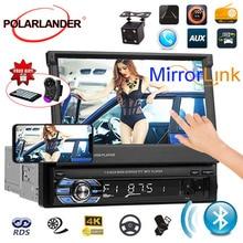 7'' Bluetooth Touch Screen free shipping  USB/SD/AUX/EQ/FM/TFT 1 Din Car Radio steering wheel/remote control 12 languages цена и фото