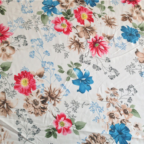 elegant floral pattern soft cotton fabric clothing material flowers