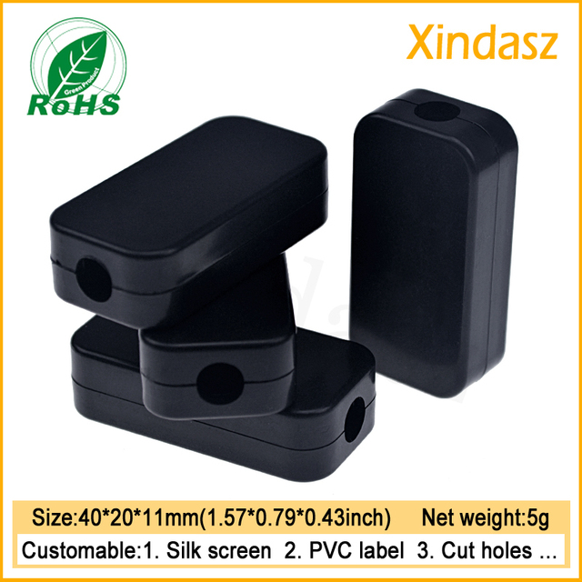 10pcs Free shipping Black small electronics project enclosure for ...