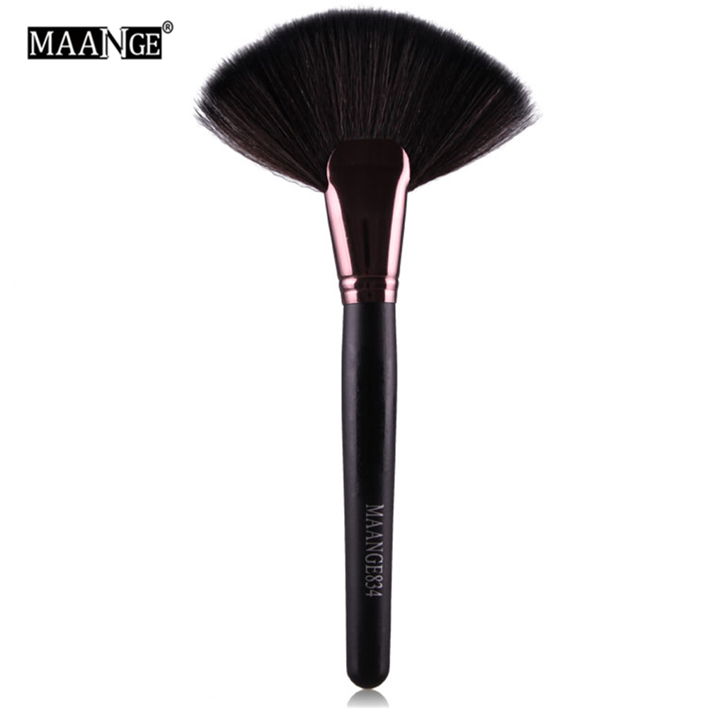 1Pcs Soft Makeup large Fan Brush Foundation Blush Blusher Powder Highlighter Brush Powder Dust cleaning brushes Cosmetic tool 1pcs makeup brushes foundation flawless powder puff blusher cosmetic cleaning tools for makeup brush maquiagem soft brushes