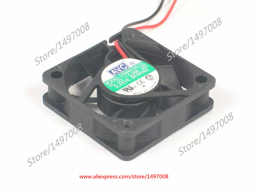 AVC DS04010S12L DC 12V 0.08A 2-wire 40x40x10mm Server Square Fan