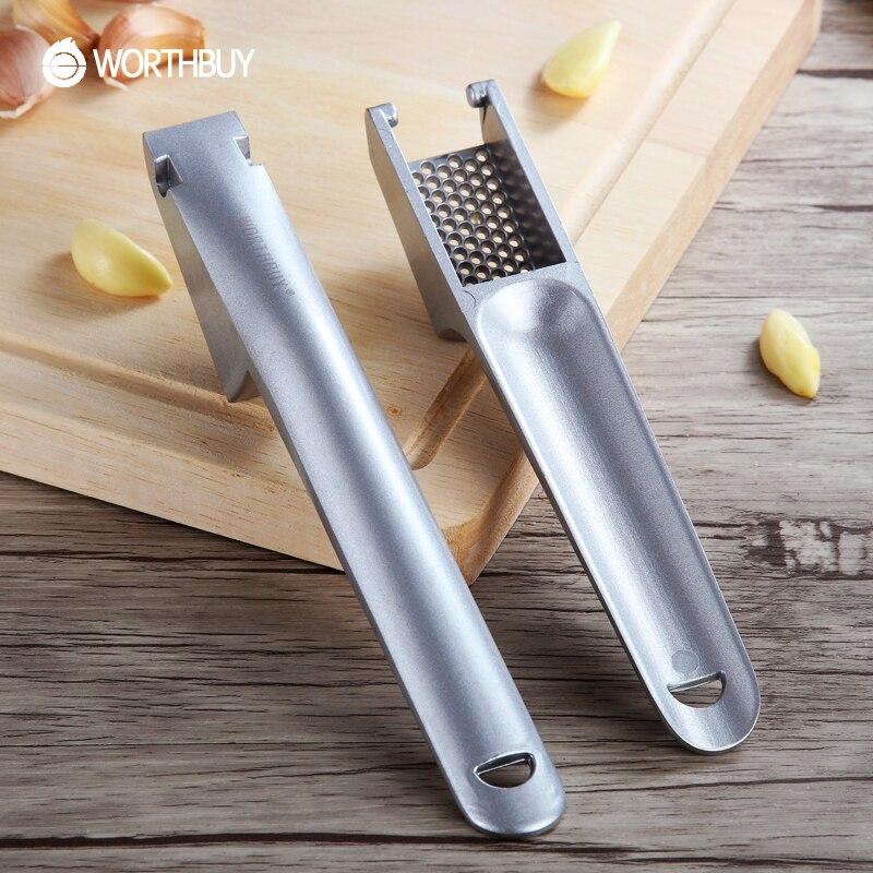 Worthbuy aleación de aluminio prensas de ajo conveniente dividir jengibre ajo ch