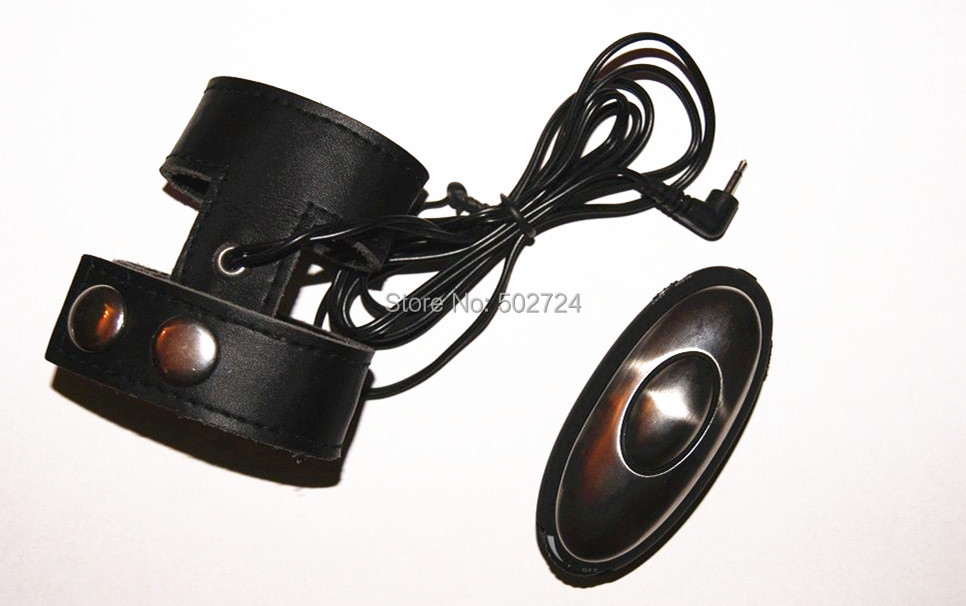 EStim Electrosex Stimulation Kit  Electro Leather Cage Conductive Electro Penis Ring Toy For Him