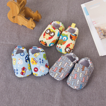 Baby Kawaii Shoes Boys Girls Cotton Non-Slip Sole First Walkers Kids Lovely Cute Cartoon Shoes Newborn Infants Toddlers Shoes 1
