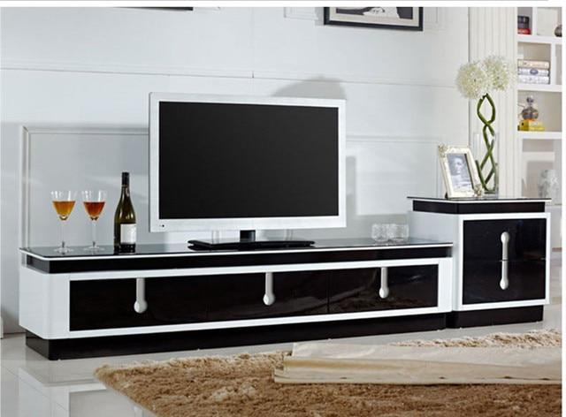 Furniture Ruang Tamu Minimalis Yang Modern Tv Cabinet Kabinet Ide Apartemen Kecil Lemari Kaca Pengiriman
