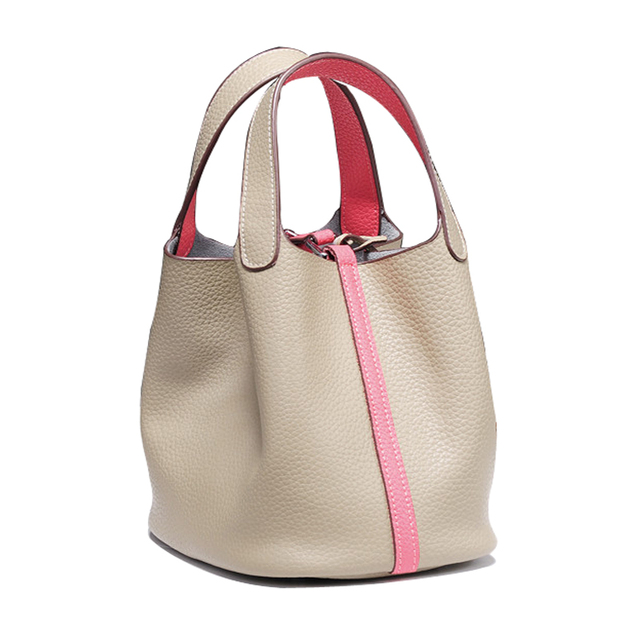 2018 Genuine Leather Small Bucket Bags Women Tote Famous Designer High Quality Fashion Per