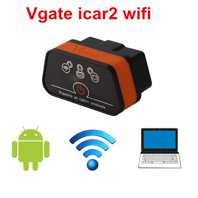 Good Quality Vgate iCar 2 Wifi OBDII ELM327 iCar2 wifi Diagnostic Interface Code Reader Adapter ELM 327 OBDII for iOS Android PC