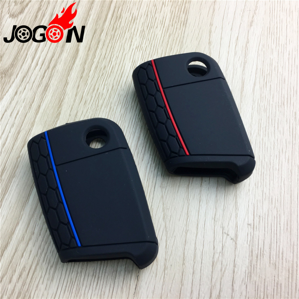 Car Key Fob Cover for VW Skoda Seat Silicone Rubber Case