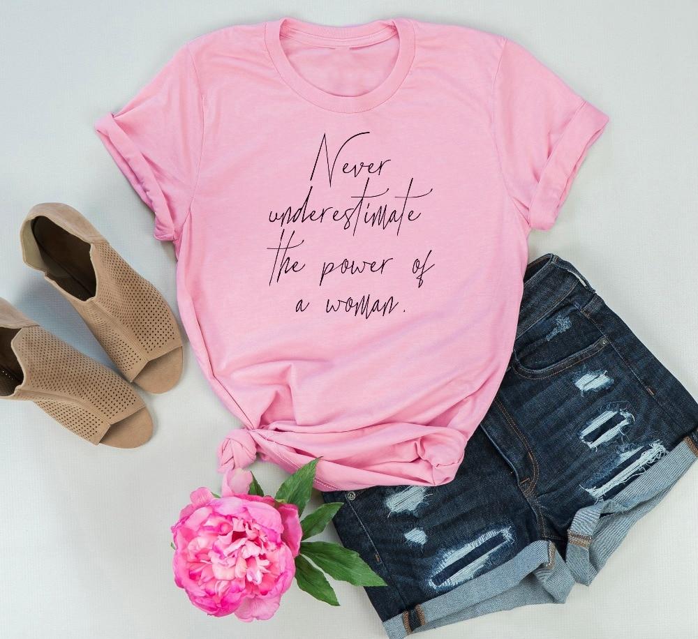 Never Underestimate The Power Of A Woman Feminist Shirt Feministe