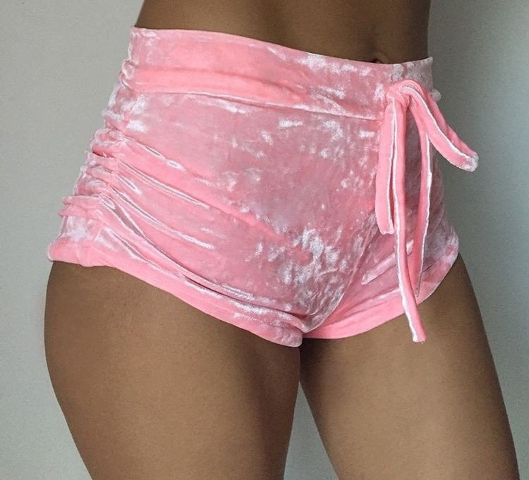 New Women Velvet Shorts Pretty Little Thing Womens Ladies Pink Crushed  Velvet Shorts Casual Booty High Waisted Shorts-in Shorts from Women s  Clothing on ... d2b6f242a