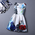 Kids Clothing Dresses For Girls Summer Style Floral Guitar Pattern Children's Print Dress Birthday Party Sundress Clothes Child