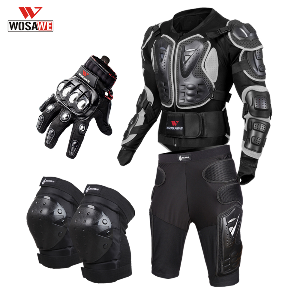 Motorcycle Full Body Armor Motos Body Protector Armadura Moto Proteccion Motocicleta motorcycle Jacket+Shorts+Knee Pads+Gloves image