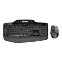 Logitech MK710, 2,4 ГГц Беспроводной Мышь наборы для клавиатуры, Стандартный, Беспроводной, РФ Беспроводной, QWERTY, черный, Мышь включены
