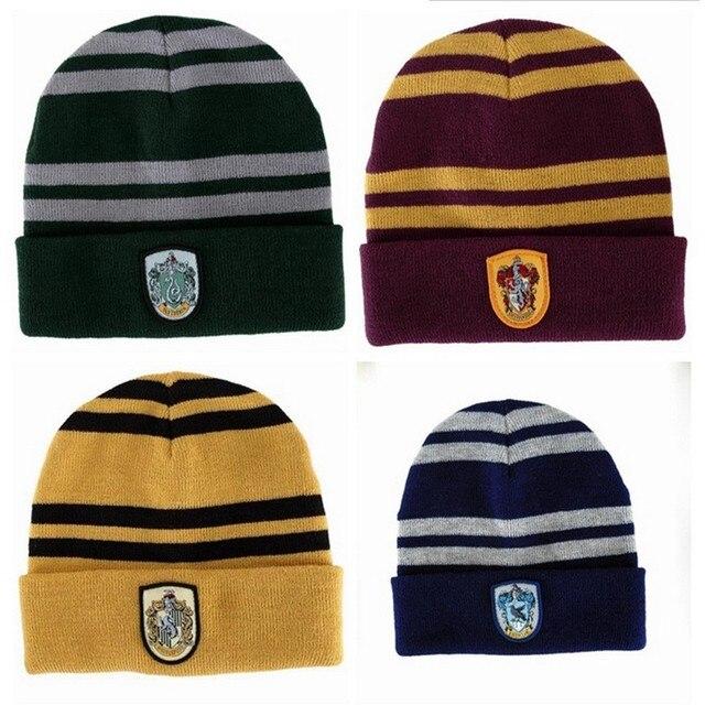 Halloween christmas gift Winter hat Warm Beanies Knit Hats Women Knitted Skullies Men Wool Caps kids Harry Potter cap