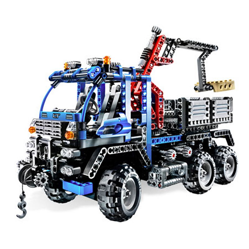 Decool 3331 Off Road Truck building bricks Toys for children Game Model Car Gift Compatible with Lepin Bela 8273 2017 enlighten city series garbage truck car building block sets bricks toys gift for children compatible with lepin