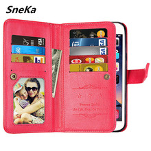 цена на Luxury leather case for Huawei Y3 2017 cover flip wallet multi-card book cases for Huawei Y5 Y6 2017 covers capa cro-l02 mya-l02
