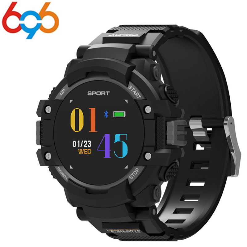 696 F7 GPS Smart Watch Man Color LCD Realtime Heart Rate Temperature Monitor Multisport Outdoor Sport Fashion Smartwatch
