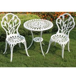 (3 sztuk/zestaw) trwałe żelaza stolik na zewnątrz zestaw mebli z krzesłami ogród dekoracja mebli Zestawy ogrodowe    -