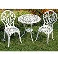 (3 teile/satz) Langlebige Eisen Outdoor Tisch Stühle Set Garten Möbel Dekor-in Garten-Sets aus Möbel bei