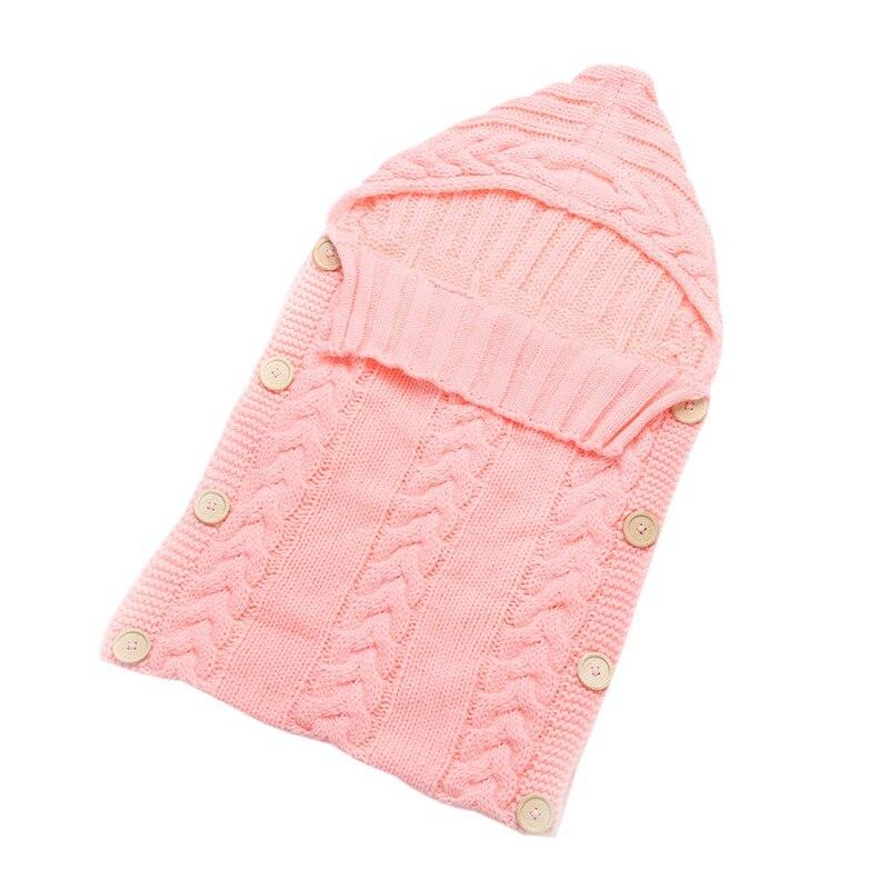 Hot Newborn Baby Kids Toddler Wool Knit Blanket Swaddle Baby Sleeping Bag Sleep Sack Stroller Wrap 0-12M 2017